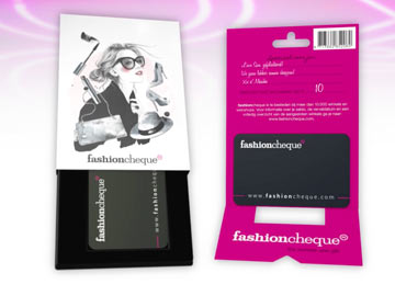 Geanimeerde tag-on voor Fashioncheque